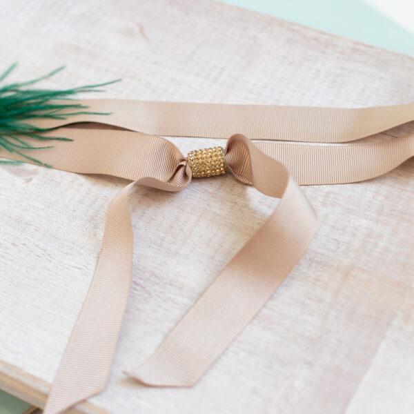 Cinturon vestido fiesta verde beige