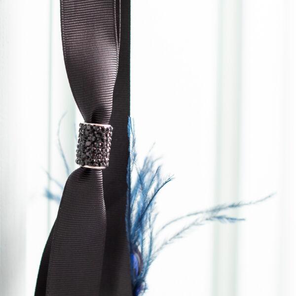 Cinturon fiesta plumas azul